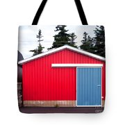 Red Fishing Shack Pei Tote Bag by Edward Fielding