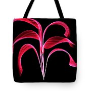 Red Flaring Plant Tote Bag