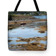 Red Flat At Low Tide Tote Bag