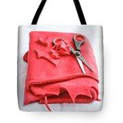 Red Fleece Tote Bag