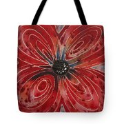 Red Flower 2 - Vibrant Red Floral Art Tote Bag