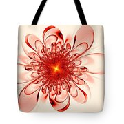 Single Red Flower Tote Bag