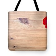 Red Flower On Wood  Tote Bag