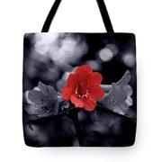 Red Flower Petals Tote Bag
