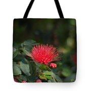 Red Flower Spraying Tote Bag