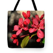 Red Flowering Crabapple Blossoms Tote Bag
