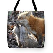 Red Fox Kits And Parent Tote Bag