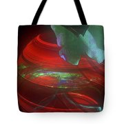 Red Fractal Bowl With Butterfly Tote Bag