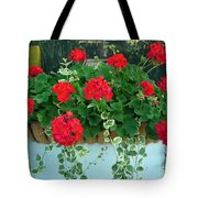 Red Geranium 1 Tote Bag