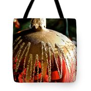 Red Gold Glitter Tote Bag