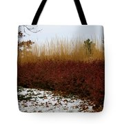 Red Gold Hedge Tote Bag