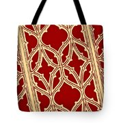 Gothic Pattern On Red Tote Bag