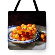 Red Grapes On Chinese Dsh Tote Bag