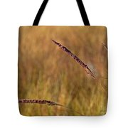 Red Grass Tote Bag