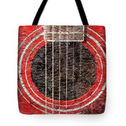 Red Guitar - Digital Painting - Music Tote Bag