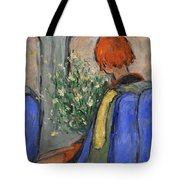 Red-haired Girl On A Sydney Train Tote Bag