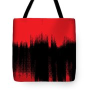 Red Halftone 2 Tote Bag