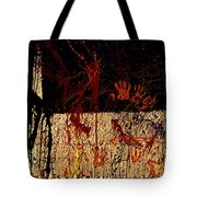 Red Hands Tote Bag