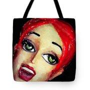 Red Head Around Corner Tote Bag