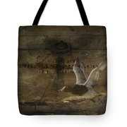 Red Head Duck Old Box Tote Bag