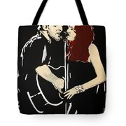 Red Headed Woman Tote Bag by Carmencita Balagtas