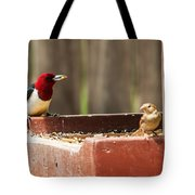Red-headed Woodpecker Feeding Tote Bag