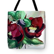 Red Helleborous Tote Bag