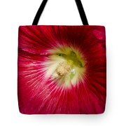 Red Hollyhock Althaea Rosea Tote Bag