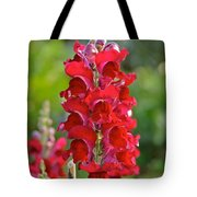 Red Snapdragon Tote Bag
