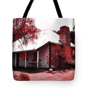 Red Homestead Garden Tote Bag