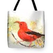 I'iwi - Hawaiian Red Honeycreeper Tote Bag
