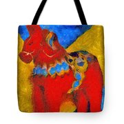 Red Horse Tote Bag