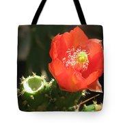 Hot Red Cactus Tote Bag