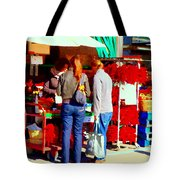 Red Hot Chili  Peppers Sweet Pimentos Jalapenos And Habaneros Food Art Scenes Carole Spandau Tote Bag