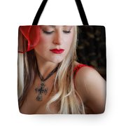 Red Hot Tote Bag by Evelina Kremsdorf
