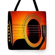 Red Hot Guitar Tote Bag