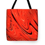 Red Hot Lava Flowing Down Tote Bag