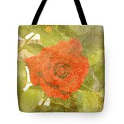 Red Hot Rose Tote Bag