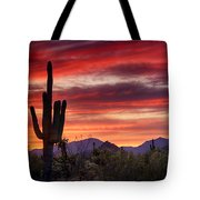 Red Hot Sonoran Sunset Tote Bag