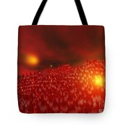 Red Ice Mountain Tote Bag