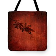 Red Japanese Maple On Red Tote Bag