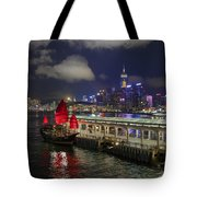 Red Jewel Of The Night Tote Bag