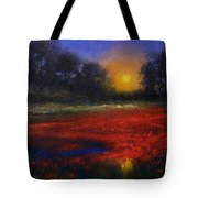 Red Lagoon Tote Bag
