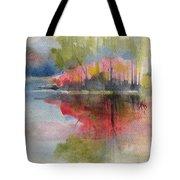 Red Lake Reflection #2 Tote Bag