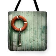 Red Life Saver Rescue Floatation Tote Bag