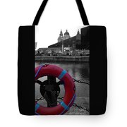 Red Lifebelt At Albert Dock 2 Tote Bag