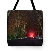 Red Light, Smoke And Flames Glowing Tote Bag