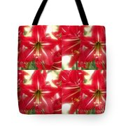 Red Lily Four Tote Bag