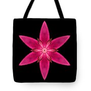 Red Lily I Flower Mandala Tote Bag