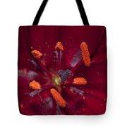 Red Lily Macro Tote Bag